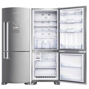Geladeira Brastemp Inverse Frost Free BRE50NK 422L Evox