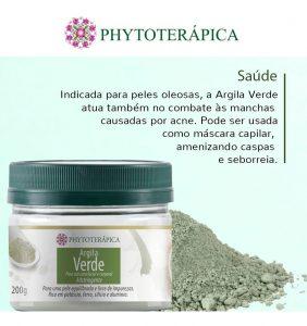 Máscaras de Argila Phytoterápica – Argila Verde