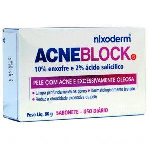 NIXODERM- Acneblock Sabonete Barra (80 g)
