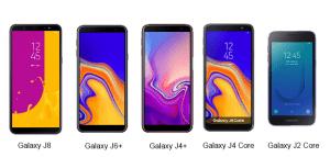 A linha Galaxy J