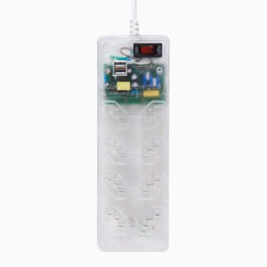 Filtro de Linha iClamper Energia 8 + USB transparente
