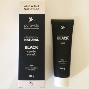 Creme Dental Clareador Natural Black PURA VIDA