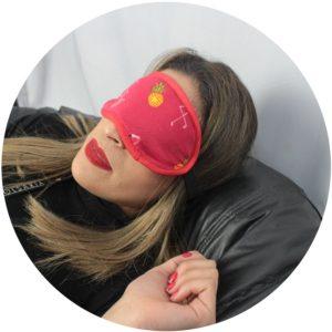 Máscara de Dormir YINS Flamingo Vermelha