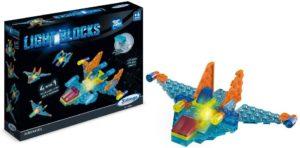 Brinquedo Educativo Xalingo Light Blocks Areronave - Blocos para Montar