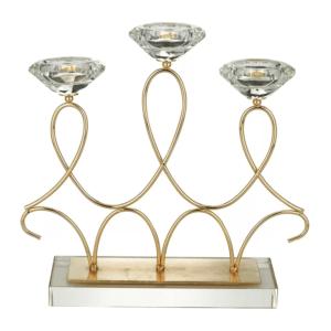 Candelabro Rojemac de Metal Dourado