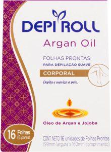 Cera para depilação DepiRoll Folhas Prontas Argan Oil