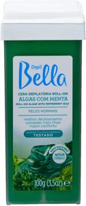 Cera para depilação Depil Bella Roll On Algas com Menta