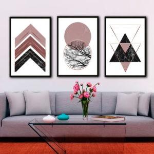 Quadro Decorativo Escandinavo Geométrico Formas