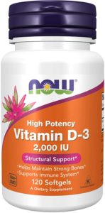 Vitamina D-3 2.000 UI Now Foods