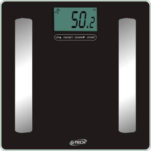 Balança Medição de Água, Gordura, Massa Muscular e Massa Óssea mod.- Glass PRO G-Tech