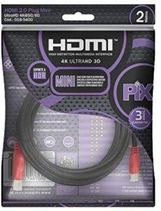 Cabo Mini HDMI para HDMI 2 metros 2.0