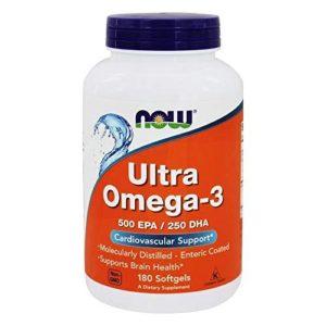 Now Foods Ultra Ômega 3 500 EPA 250 DHA 180 Softgels